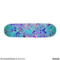Re-Created Mosaic Skate Boards #Robert #S. #Lee #skateboard #board #decks #skater #design #colors #customizable #re-created