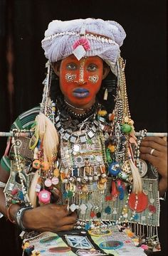 The Wodaabe are nomads, migrating through the African Sahel from northern Cameroon to Chad, Niger, and northeast Nigeria