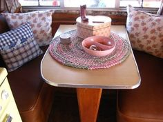 dining area in my 1957 trailer. The Beehive Cottage