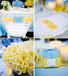 Baby Blue and Yellow Wedding Inspiration | Trendy Bride Wedding Blog
