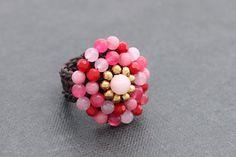 Pink Blossom Cocktail Ring por XtraVirgin en Etsy