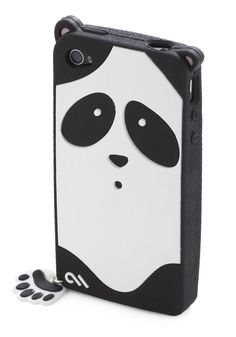 @Panda Alexis Call of the Wilderness iPhone Case - Black, White, Print with Animals