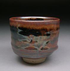 Yunomi Tea Cup glazed with Teadust Tenmoku by shyrabbit on Etsy