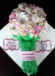 30x happy 2nd birthday girl comestible gaufre//fondant paper cup cake toppers