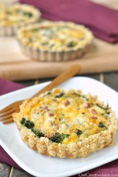 Kale and Bacon Quiche Recipe - With a Cracker Crust! - Creative Juice