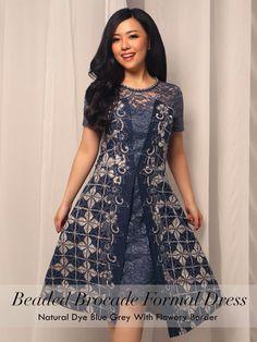 Home - Batik Kultur Top Model Dress, Model Dress Batik, Batik Dress, Lace Dress, Dress Brokat, Kebaya Dress, Batik Kebaya, Elegant Dresses For Women, Simple Dresses