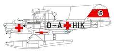 Resultado de imagen de heinkel 59 red cross
