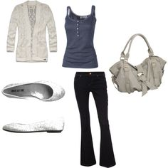 """""""Cream and Blue"""" on Polyvore"""
