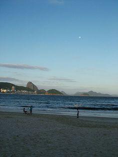 Afternoon at Copacabana Beach, Rio de Janeiro.