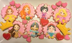 Disney Princess Faces - I bet I could do these faces in fondant :-)