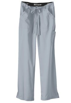 These Grey's Anatomy cargo scrub pants in Moon are a proven hit with our customers! Pamper yourself throughout the workday with the comfy drawstring waist and the seriously soft fabric. | Scrubs & Beyond