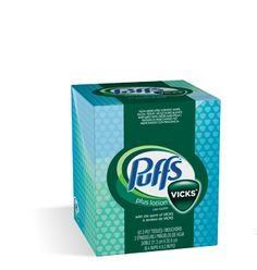 Who came up with this amazing stuff? Puffs tissue scented with Vicks vapor!! It's like enveloping your senses in a cloud of Vicks scent, while your stuffy nose thanks you.