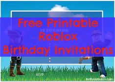 Throwing a Roblox birthday party? Use these free printable Roblox birthday invitations to send the word out to all your friends about the big celebration! The free invitation templates feature two Roblox characters with a blue sky and white cloud background. The templates are editable which allows you to edit the text on the invites …