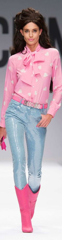 Moschino Collection Spring 2015 - pin courtesy of James Mitchell