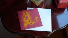 Greeting card  Phoenix peony by OrientalSpectrum on Etsy