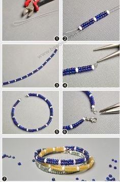 # Beebeecraft tutorials on how to make # bracelets with # Seedbeads. - # Beebeecraft tutorials on how to make # bracelets with # Seedbeads. Handmade Beaded Jewelry, Beaded Jewelry Patterns, Wire Jewelry, Custom Jewelry, Jewlery, Homemade Bracelets, Homemade Jewelry, Beaded Bracelets Tutorial, Bracelet Crafts