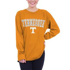 Tennessee Volunteers chicka-d Women's Oversized Long Sleeve T-Shirt - Tennessee Orange - $29.99