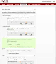 Ein Matchingsystem, welches zusätzlich die persönlichen Suchkriterien der Mitglieder berücksichtigt, analysiert bei eÇift tausende Mitgliederprofile und stellt den Mitgliedern potentielle Partner vor. www.ecift.com