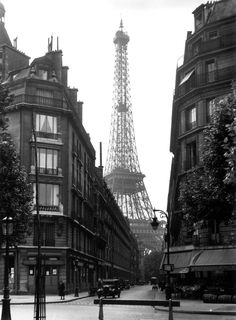 "The Trip Eiffel is genuinely a symbol of Paris. It is the most identifiable feature of the city and, in fact, the world. Located in the arrondissement, the Eiffel Tower was a marvel of ""contemporary"" engineering. Vintage Paris, Vintage Abbildungen, Photo Vintage, Paris 3, Old Paris, Paris 1920s, Paris Cafe, Streets Of Paris, I Love Paris"
