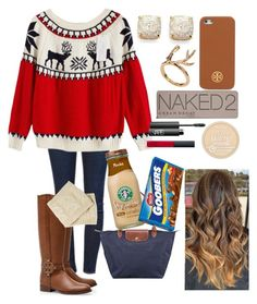 """""""Day 5: Movies with Friends"""" by lilypope ❤ liked on Polyvore featuring beauty, Tory Burch, Urban Decay, Frame Denim, Kate Spade, Longchamp, Rimmel and NARS Cosmetics"""
