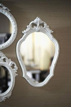 Nice collection of white mirrors.