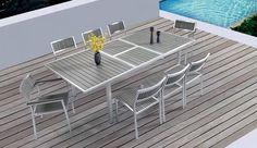 Τραπεζαρία Polywood επεκτεινόμενη 7τμχ Miranda Outdoor Furniture Sets, Outdoor Decor, Balcony, Table, Home Decor, Decoration Home, Room Decor, Balconies, Tables