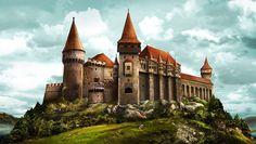 Castelul Corvinilor din Hunedoara.
