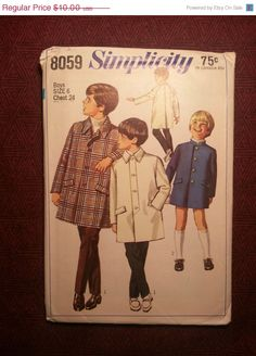 Uncut 1960's Simplicity Sewing pattern 8059 Size 6 by EarthToMarrs