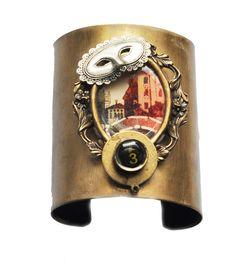 Ca Dario Wearable Art Cuff, Adjustable, Neo Victorian Jewelry Unique Bracelets, Handmade Bracelets, Cuff Bracelets, Neo Victorian, Victorian Jewelry, Wearable Art, My Style, Earrings, Gifts