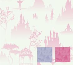 17 Amazing Disney Wallpaper Options For the Ultimate Disney Nursery - Disney Princess Castles