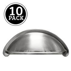 10 Pack Satin Nickel Kitchen Cabinet Pulls 3 Inch Bin Cup Drawer Handles  #Ilyapa