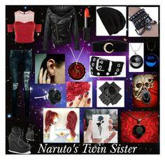 """Naruto's Twin Sister"" by fashion-rose-16 on Polyvore featuring Pinko, Demonia, Boohoo, Black, Mike Saatji, NARS Cosmetics, Chicnova Fashion, Rick Owens and Relic"