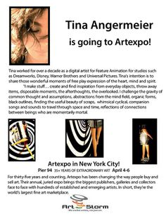 Tina Angermeier is Going to ArtExpo NY...the biggest art showplace in the world!