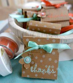 Kleine Schenkerlies für Gäste - klikaklakas kreativer kram