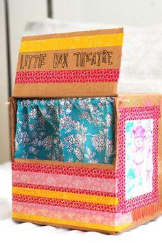 diy little cardboard box theatre...
