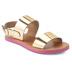 7c0947060cc4 Lilly Pulitzer for Target Infant Toddler Girls  Sandals - Metallic Gold  Nina Shoes