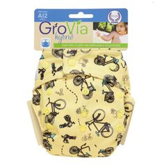 GroVia One Size Shell (AI2/ Hybrid) with Snaps-  Bicycles