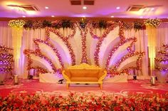 Decors - Wedding Stage Decorators In South India, Wedding Cards,Catering,Candid Photography, C Reception Stage Decor, Wedding Hall Decorations, Wedding Stage Design, Wedding Reception Backdrop, Marriage Decoration, Engagement Decorations, Wedding Mandap, Flower Decorations, Wedding Table