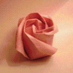 DIY Origami Rose Instructions DIY Origami DIY Craft