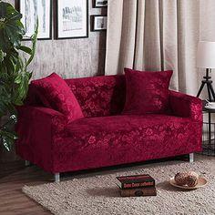 Amazon Com Elastic Slipcover Plush Sofa Slipcover All Inclusive Solid Color Furniture Protector For 1 2 3 4 Cu Corner Sofa Covers Sofa Covers Cushions On Sofa