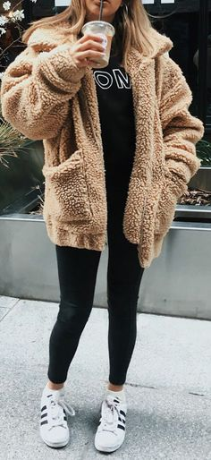 Aurora Popular Oversized Soft Comfy Sherpa Teddy Jacket Pixie Coat outfit outfit ideas outfits outfits for ladies outfits for school outfits mens outfits summer outfits womens School Outfits For Teen Girls, Winter Outfits For Teen Girls, Casual Fall Outfits, College Girl Outfits, Comfy College Outfit, Outfit Winter, College Winter Outfits, Cute Comfy Outfits, Autumn Fashion Casual