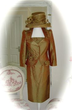 NWT Condici Dress/Jkt, 10, Golds & Snoxell Hat, Weddings Races Ladies Formal