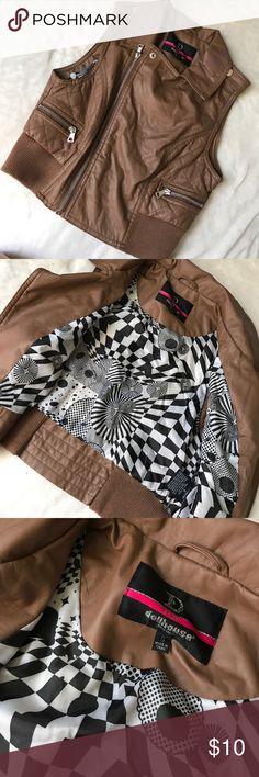 Brown Leather Vest Jacket Never worn Jackets & Coats Vests
