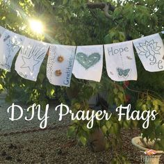 DIY Prayer Flags #whathealsyou #prayerflags #projectheal Project Heal, Prayer Crafts, Prayer For Baby, Peace Flag, Wedding Prayer, Craft Projects, Sewing Projects, Prayer Stations, Prayer Garden