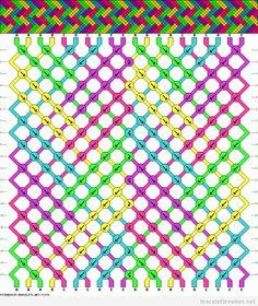 Modèle en zigzag et coulers, bracelet brésilien