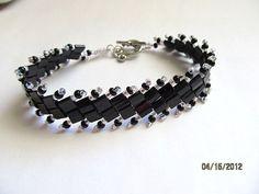 Elegant Beadweave Tila Bracelet by roseange on Etsy, $20.00