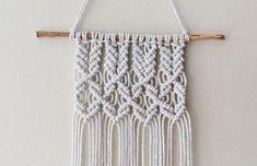 Macrame mini wall hanging