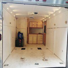 Converted Cargo Trailer, Cargo Trailer Camper Conversion, Toy Hauler Camper, Diy Camper Trailer, Build A Camper, Box Trailer, Cargo Trailers, Utility Trailer, Truck Camper