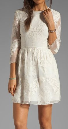 Baroque Lace Dress