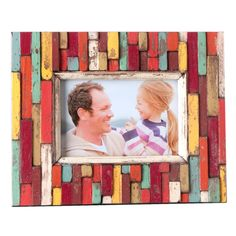 Stecca Picture Frame by Shiraleah. {looks like popsicle sticks to me :) }